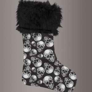 Christmas Skull Holiday Stocking Punk Metal Goth